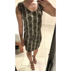 Michael Kors Snake Print Jersey Dress